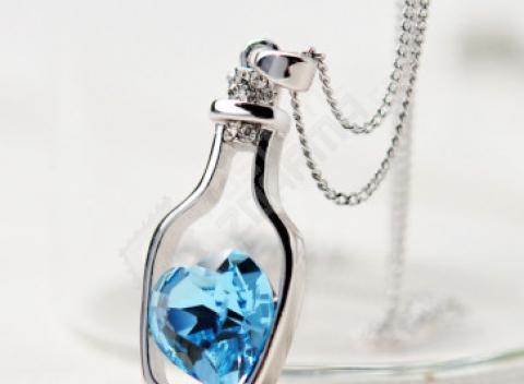 ec26ba473f5 Elegantný náhrdelník s láskyplným odkazom vo fľaši. Doprava zdarma.