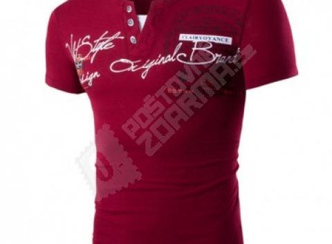Pánske tričko s krátkym rukávom a golierom na gombíky. Doprava zdarma. Slovensko  Oblečenie 60ad006a239