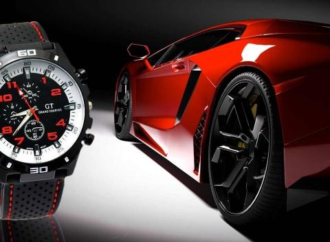 Pánske športové hodinky GT Grand Touring. Ciferník je odolný voči  poškriabaniu i nárazom. 485b8d146f2