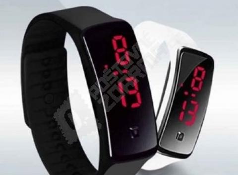 321276251d5 Odolné silikónové hodinky s LED digitálnym zobrazením času
