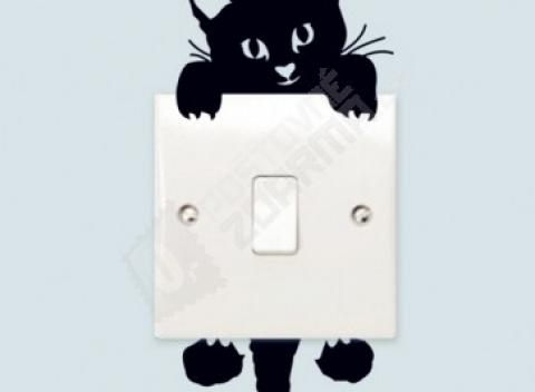 obrie čierna mačička