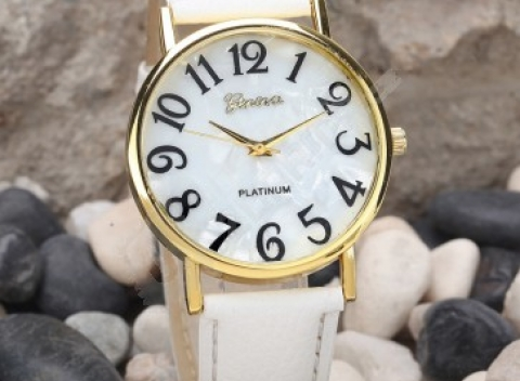 dd91d9ea1 Dámske retro hodinky s veľkými číslicami - 2 farby, doprava zdarma.