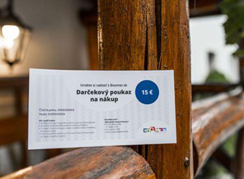 154b2994a83e Darčekový poukaz na nákup na Boomer.sk. Najlepší darček pre milovníkov  zážitkov a výhodných