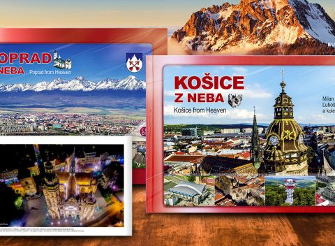 0d30bd23bd83 Slovenské mestá z neba - knihy s originálnymi fotografiami z vtáčej  perspektívy + maľovaná mapa.