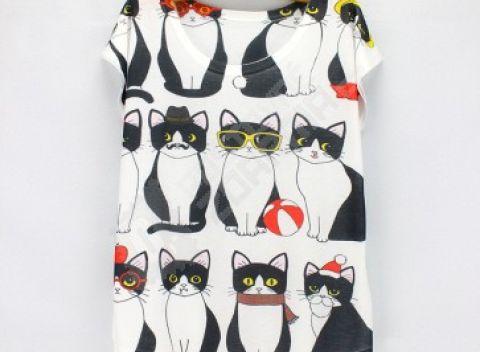 Ľahké dámske tričko s osobitým potlačou - na výber 20 motívov c50c6670125