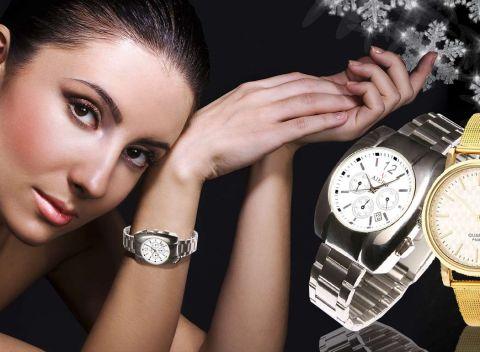 Kvalitné dámske hodinky značky Quartz a Aiers v zlatej alebo striebornej  farbe. fc212a007a3