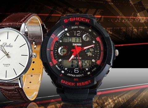 1a92cc56a Športové alebo elegantné hodinky pre pánov - kvalitné značky Quartz a Dual  Time.