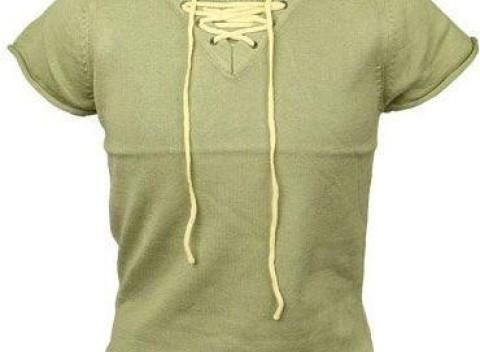 Detské zelené tričko so šnúrkami a krátkym rukávom. a73638c69f2
