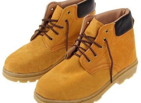 Členkové pracovné kožené topánky v žltej farbe s vystuženou špičkou 9426cc68e82