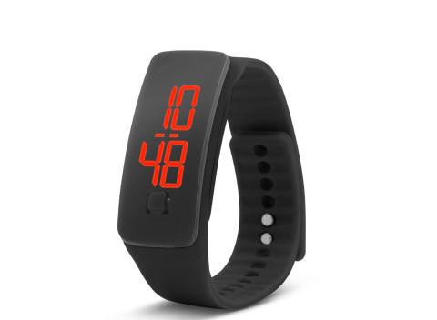 1683272ec Jednoduché, ľahko ovládateľné silikónové hodinky- čierne - športové nosenie  aj na všedné dni.