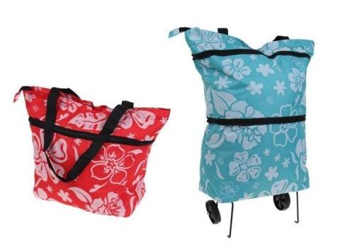 d883e51861ae2 Nákupná super variabilná taška s kolieskami. Neťahajte sa s ťažkou taškou a  využite kolieska!