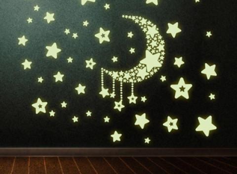 0febe3038 Svietiace nálepky na stenu. Vyčarujte nádhernú nočnú oblohu na vašu stenu!
