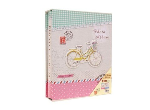 de584d3e22 Fotoalbum v pevných doskách s plastickým obrázkom bicykla