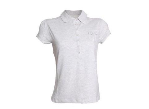 12a6241f6 Pohodlnné bavlnené dámske tričko s krátkym rukávom v šedej farbe.