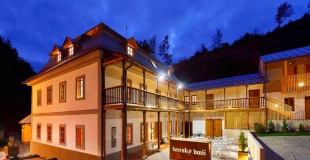 Nezabudnuteľný pobyt s wellness a polpenziou v jedinečnom meštianskom Banskom dome v srdci Štiavnických vrchov v mestečku Hodruša Hámre.