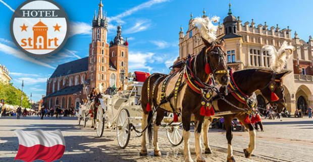 Krásy Krakova so šikovným ubytovaním, rýchlou dostupnosťou do centra a zastávkou MHD hneď pri hoteli za výbornú cenu.