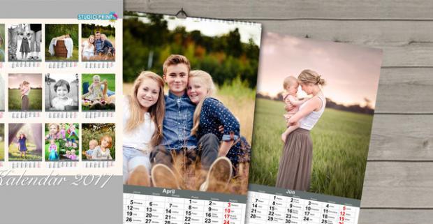 Extra veľký kalendár z vašich fotografií. Vystavte si po celý rok tie najdôležitejšie momenty, na ktoré nechcete zabudnúť.