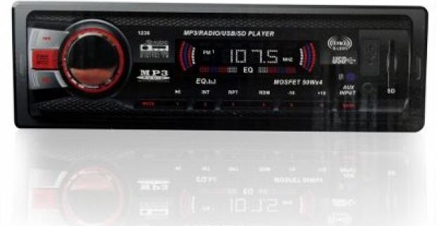 Soundrace Mp3 autorádio s digitálnym LCD displejom podporuje USB SD aj MMC karty. Štandardné vyhotovenie a prijateľná cena.