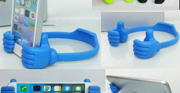 Originálny stojan na mobil v tvare ruky. Netradičná pomôcka, ktorá zaujme svojím veselým dizajnom. Skvelý nápad na darček.