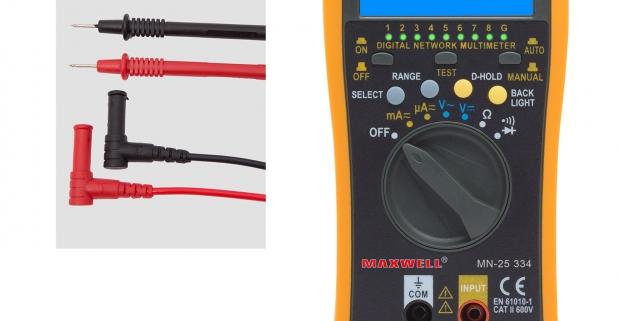 Praktický digitálny multimeter na meranie rôznych elektrických veličín. Je vhodný pre laborátóriá, výrobné závody, montérov či hobby účely.