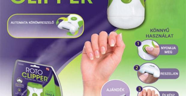 Roto Clipper - Automatický pilník na nechty. V pohodlí domova si urobíte dokonalú manikúru a vaše nechty budú krásne a hladké.