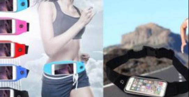 Športové púzdro s reflexnými pruhmi na mobil. Štýlová vodeodolná pomôcka, ktorú si pripnete okolo pása a môžete ísť športovať