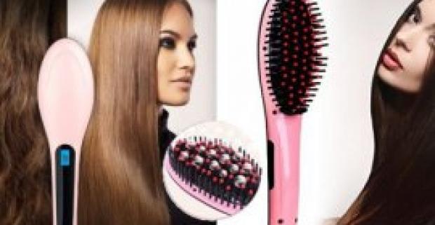 Digitálna antistatická keramická kefa so žehličkou na vlasy! Novinka na trhu, ktorá si poradí so všetkými typmi vlasov.