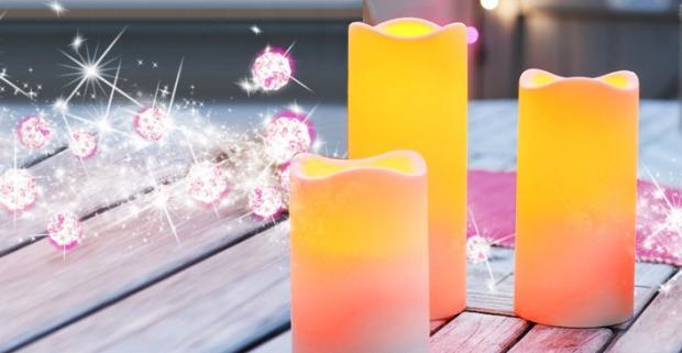 Sviečky na diaľkové ovládanie. Romantická atmosféra pri sviečkach ako vyšitá. Žiadne nehody s pripálenými záclonami či rozliatym voskom.