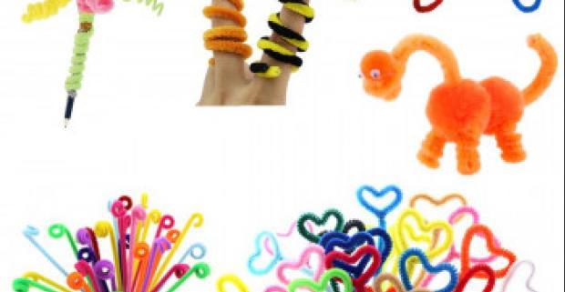 Flexibilné plyšové tyčinky Vhodné na výrobu hračiek a ozdôb