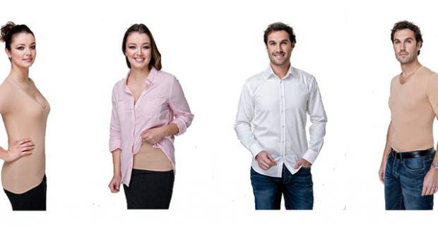 28ad3fe956a3 Neviditeľné pánske a dámske tričká alebo tielka. Dajte stop bielym tielkam  a vyskúšajte nosiť pod košeľu neviditeľné tielko!
