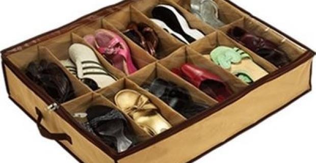 Praktický úložný box na 12 párov topánok pre jednoduché a prehľadné uskladnenie sezónnej obuvy. Ušetríte priestor a ochránite topánky.