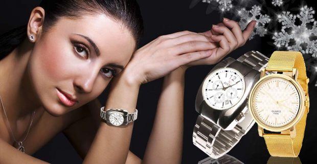 dc3d47ff4 Kvalitné dámske hodinky značky Quartz a Aiers v zlatej alebo striebornej  farbe.