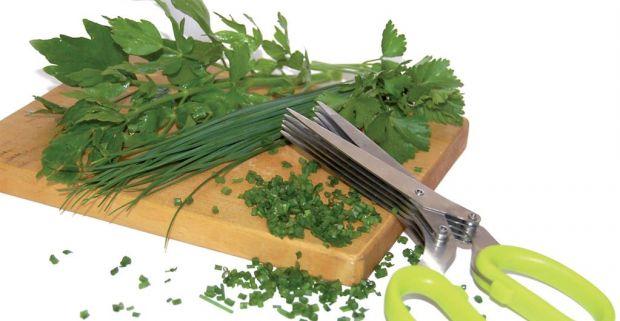 Masívne nožnice s 5-mi ostrými oceľovými čepeľami. Vynikajúce pre strihanie  byliniek a zelených vňatí 86a195fc4bc