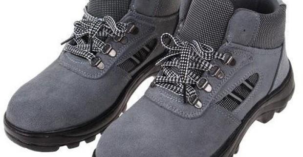 f0ab21a079aa Členkové pracovné kožené topánky s vystuženou špičkou v…