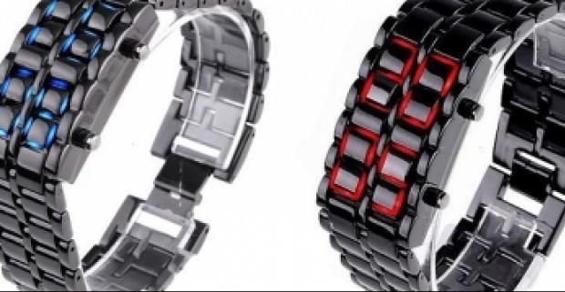"""Luxusné náramkové LED hodinky """"IRON SAMURAI"""" sú Japonskom…  1bba1589e8a"""