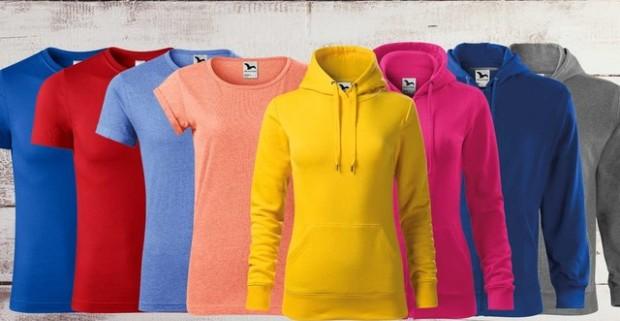 Jednofarebné dámske a pánske tričká a mikiny. Na výber z viacerých veľkostí f5aad592905