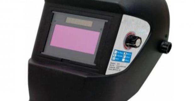 Samozatmievací zvárací štít Rozmery filtru: 110x90x9 mm, solárne panely