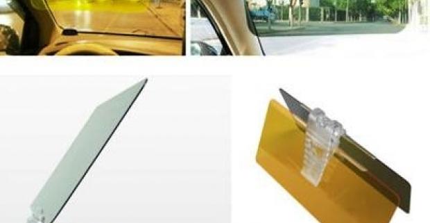 Pripojiteľný panel k slnečnej clone DAY & NIGHT VISOR. Šoférujte bezpečne cez deň aj v noci, v zime či v lete v každom počasí!