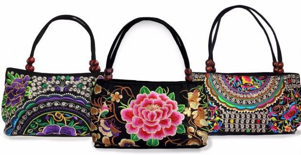 f4deb69891 Očarujúce módne doplnky Vyšívané látkové kabelky a peňaženky ...
