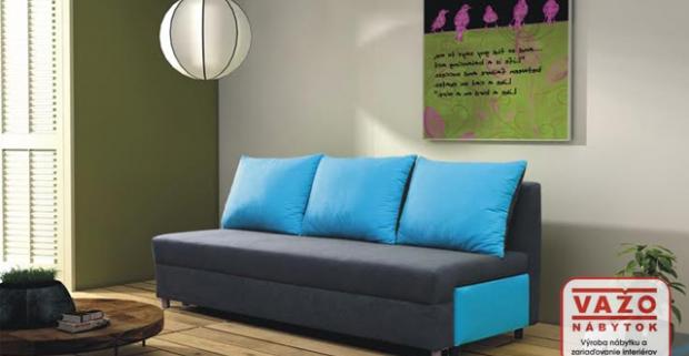 Moderná rozťahovacia pohovka Evelin v krásnych pestrých farbách, oživí a vnesie optimizmus, pohodlie a útulnosť do vášho domova.
