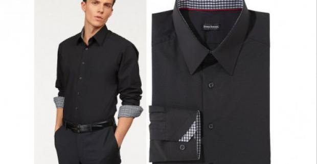 Elegantná pánska košeľa značky Bruno Banani. Kentský golier a módny kontrastný vklad na golieri a na manžete.