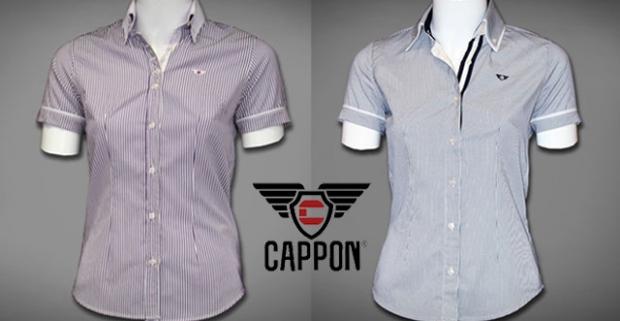 Elegantné dámske košele s krátkym rukávom obľúbenej značky CAPPON. Moderné oblečenie vhodné na voľný čas, do práce aj na večierok.