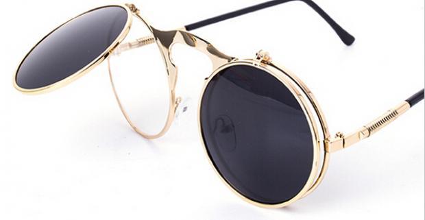 Okrúhle dámske slnečné okuliare vyrobené z kvalitného materiálu ... f539e2b7463