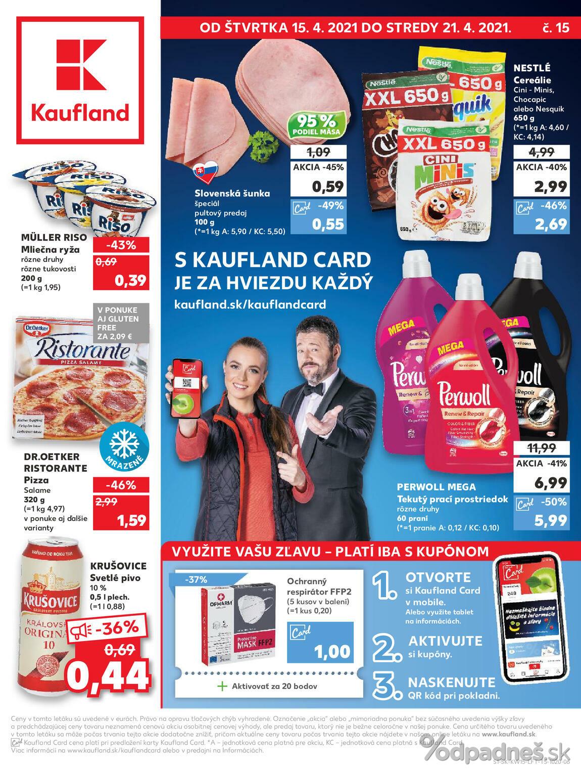 1. stránka Kaufland letáku