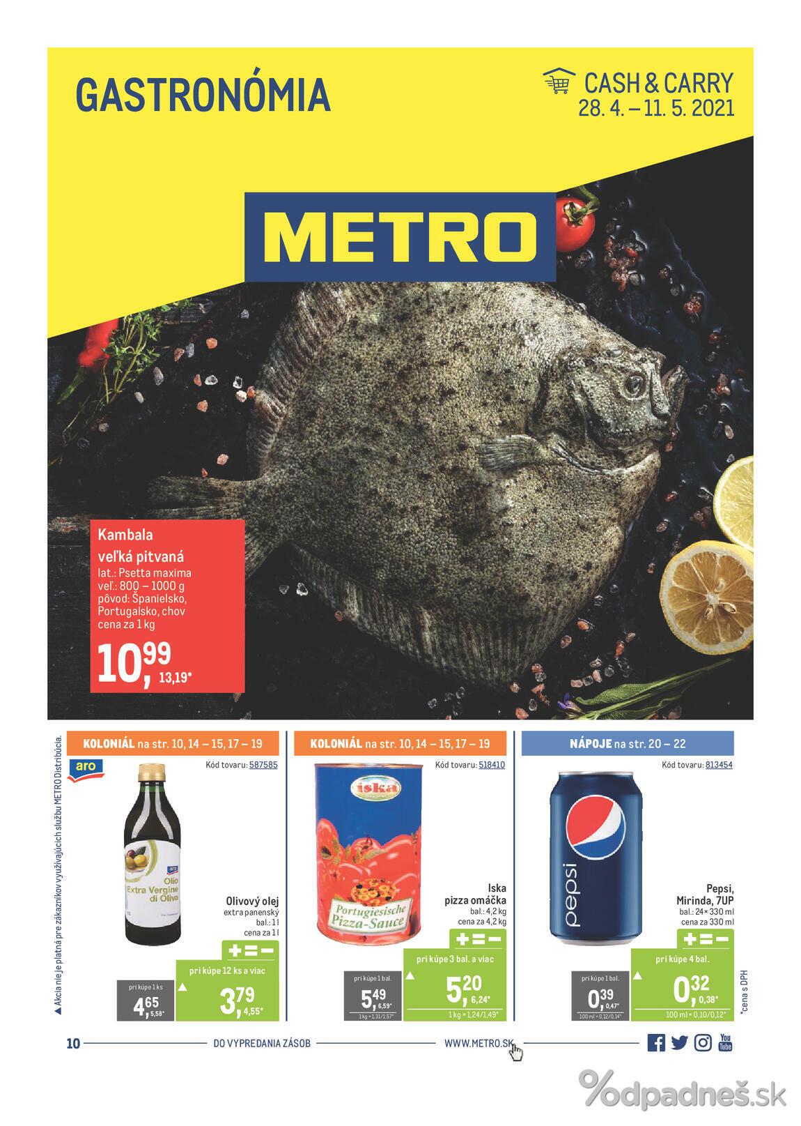 1. stránka Metro letáku