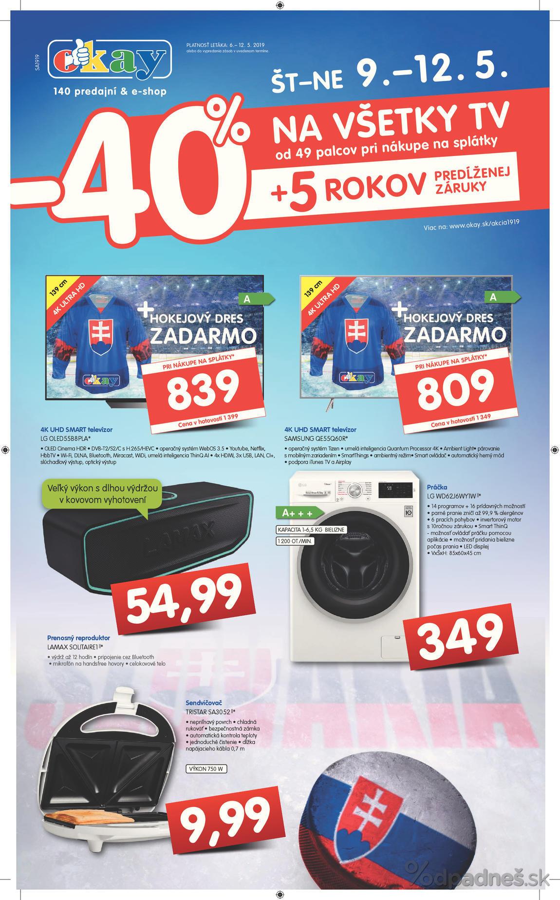 1ac2283c4fdfb OKAY elektro leták platný do 12.5.2019 | Letákovo.sk