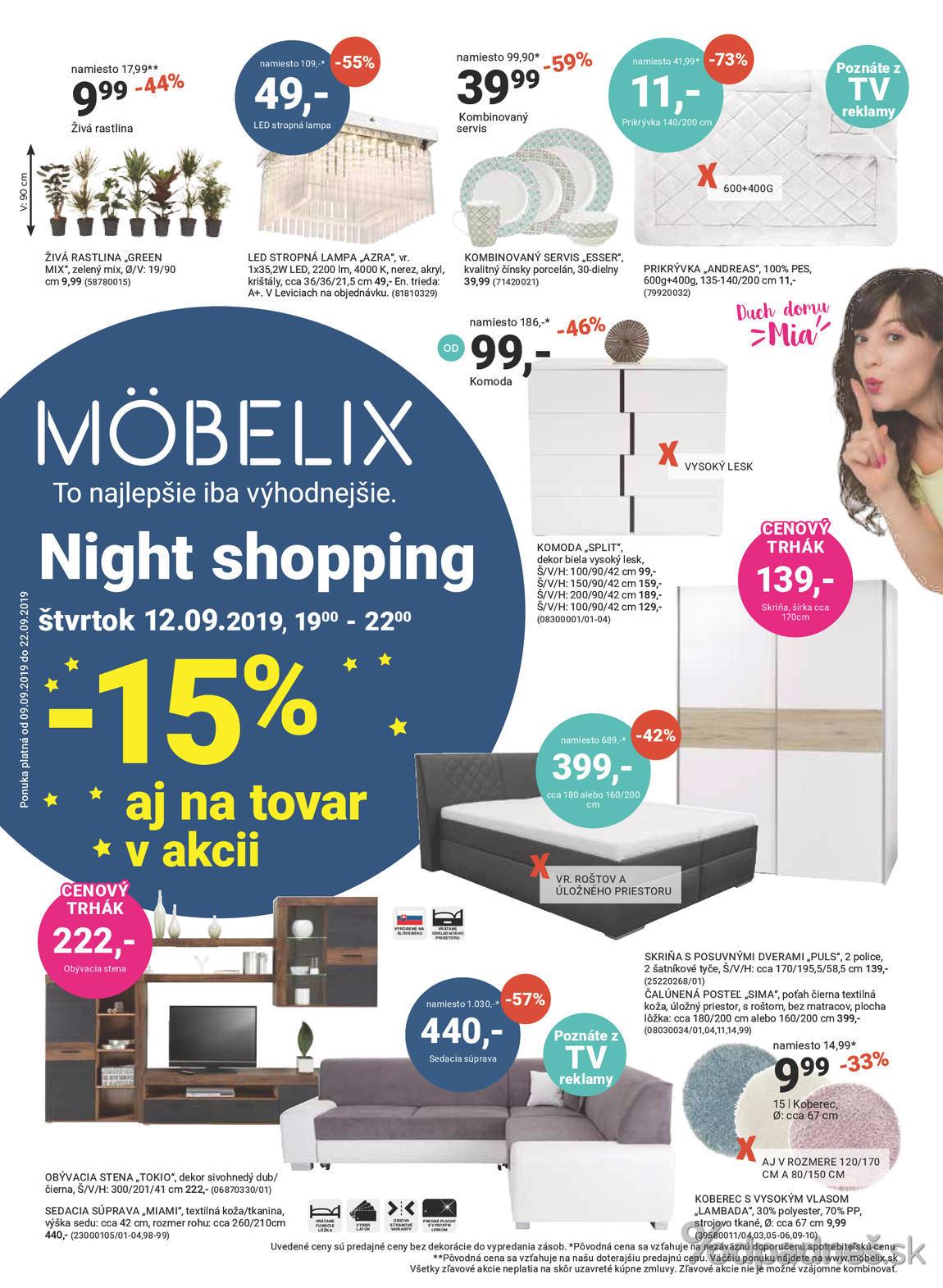 1. stránka Mobelix letáku