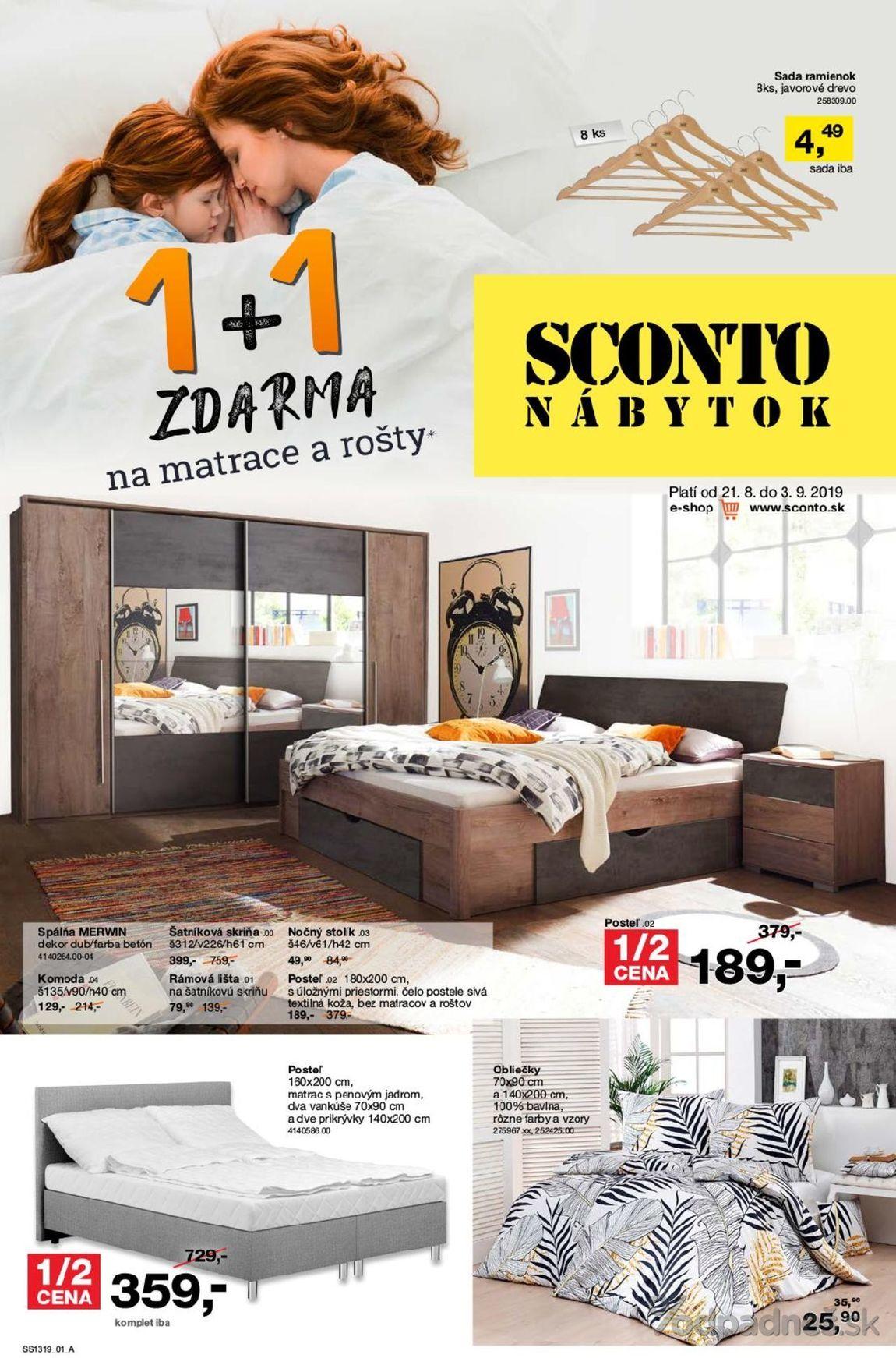 1. stránka Sconto nábytok letáku