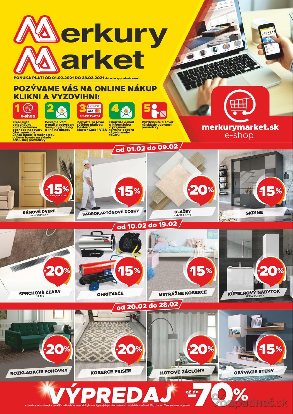 1. stránka Merkury Market letáku