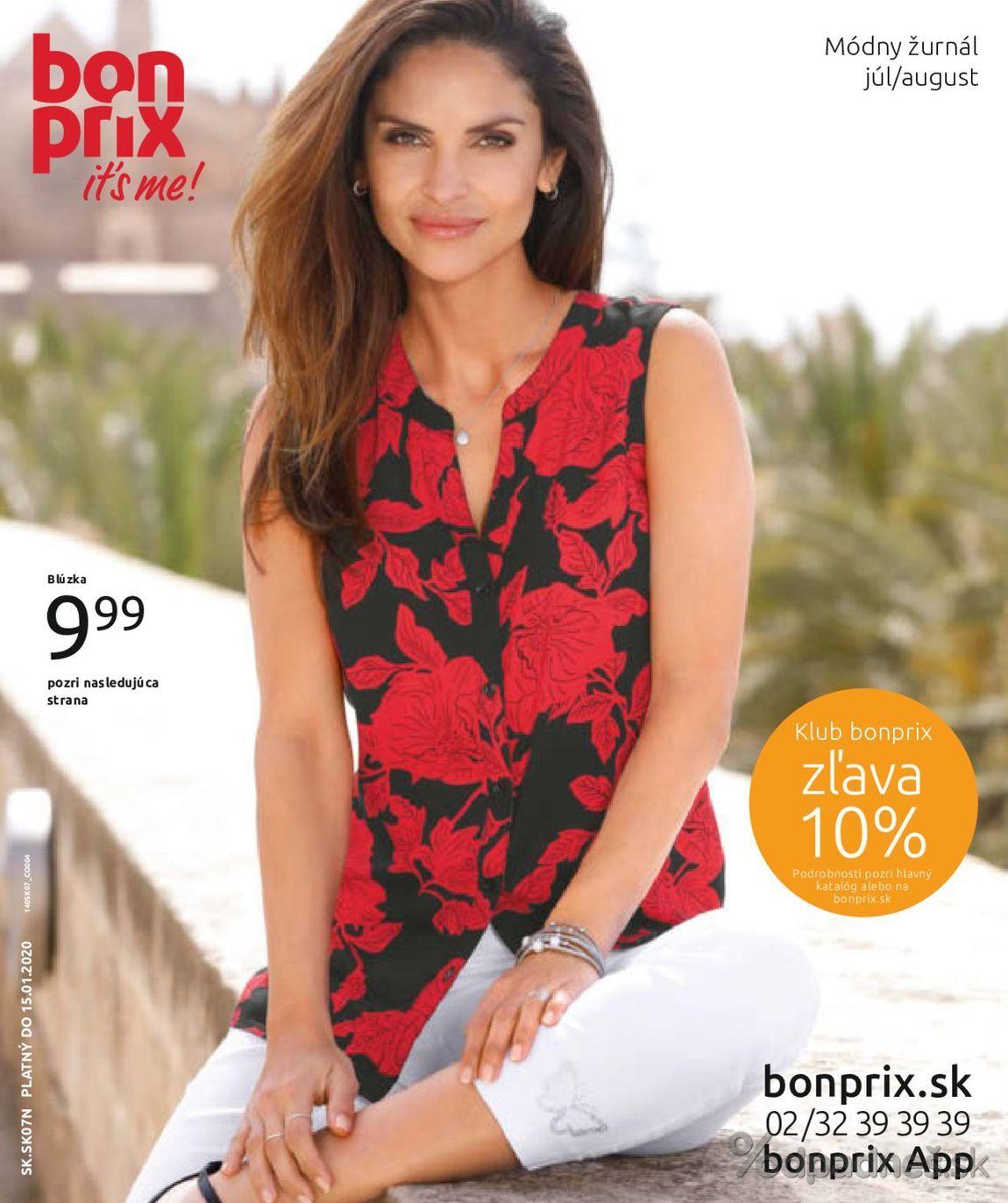 1. stránka Bonprix letáku